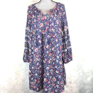 Old Navy Boho Peasant Dress Long Sleeve Floral